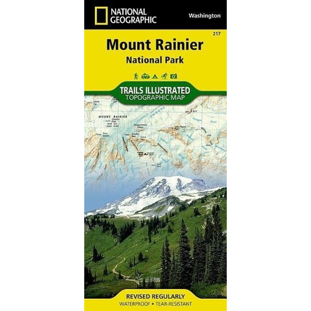 Mount Rainier National Park, WA - National Geographic Trails Illustrated National Parks