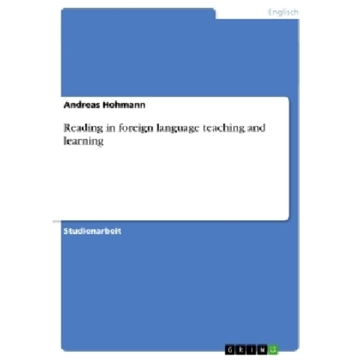 Reading in foreign language teaching and learning