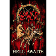 Hell Awaits Textil Poster
