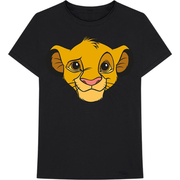Lion King - Simba Face (Black) T-Shirt M