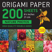 """Origami Paper 200 Sheets Nature Photos 8 1/4"""" (21 CM): Extra Large Tuttle Origami Paper: High-Quality Double Sided Origami Sheets Printed with 12 Diff"""