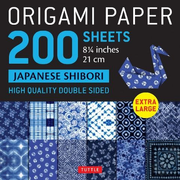 """Origami Paper 200 Sheets Japanese Shibori 8 1/4"""" (21 CM): Extra Large Tuttle Origami Paper: High-Quality Double Sided Origami Sheets Printed with 12 D"""