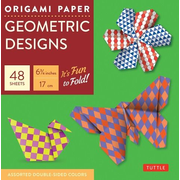 """Origami Paper Geometric Prints 48 Sheets 6 3/4"""" (17 CM): Large Tuttle Origami Paper: High-Quality Origami Sheets Printed with 6 Different Patterns (In"""