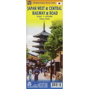 Touristik Karte Japan West & Central Railway 1:670 000