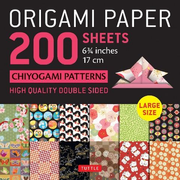 """Origami Paper 200 Sheets Chiyogami Patterns 6 3/4"""" (17cm): Tuttle Origami Paper: High-Quality Double Sided Origami Sheets Printed with 12 Different Pa"""