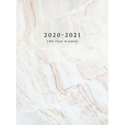 2020-2021 Two Year Planner: Large Monthly Planner with Inspirational Quotes and Marble Cover (Hardcover)