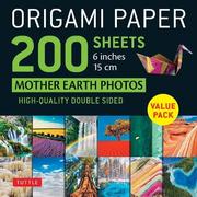 """Origami Paper 200 Sheets Mother Earth Photos 6"""" (15 CM): Tuttle Origami Paper: High-Quality Double Sided Origami Sheets Printed with 12 Different Phot"""