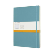 Moleskine Classic Notebook, Monotone, Blue, Matt, 70 g/m², Lined paper, Softcover
