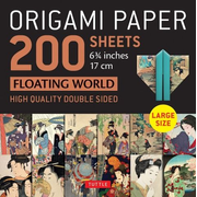 """Origami Paper 200 Sheets Floating World 6 3/4"""" (17 CM): Tuttle Origami Paper: High-Quality Double Sided Origami Sheets Printed with 12 Different Print"""