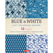 Blue & White Gift Wrapping Papers 12 Sheets: High-Quality 18 X 24 Inch (45 X 61 CM) Wrapping Paper