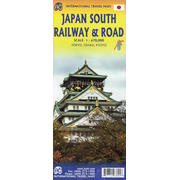 Japan South Railway & Road Map 1:670 000
