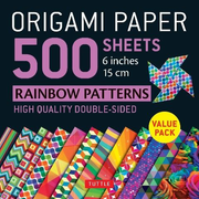 Origami Paper 500 Sheets Rainbow Patterns 6 (15 CM): Tuttle Origami Paper: High-Quality Double-Sided Origami Sheets Printed with 12 Different Designs