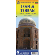 Iran & Tehran Travel Reference Map 1 : 2 350 000 / 1 : 15 000