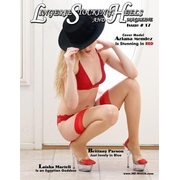 Lingerie Stockings and Heels Magazine: Issue # 17 Cover Model Ariana Mendez