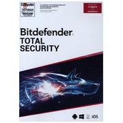 Bitdefender Total Security, 10 Geräte, 18 Monate, Code in a Box