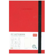 My Notebook - Medium Plain Red