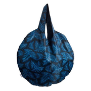 Easy Bag Round XL Philodendron blue