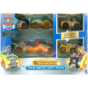 PAW Patrol , True Metal Spark Gift Pack of 6 Collectible Die-Cast Vehicles, 1:55 Scale