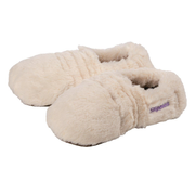 Warmies® Slippies Deluxe creme Plush, Gr. 36-40 - Lavendelfüllung