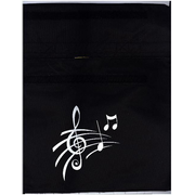 Music Bag - Treble Clef & Notes (Black) - Zubehör
