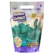Kinetic Sand , Twinkly Teal 2lb Bag of All-Natural Shimmering Play Sand for Squishing, Mixing and Molding, Sensory Toys for Kids Ages 3 and up