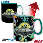 ABYstyle - Rick & Morty Spaceship Thermoeffekt Tasse
