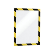 Durable Duraframe Security A4 magnetic frame Black, Yellow