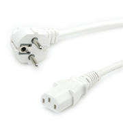 Value Power Cable, straight IEC Conncector, white 1.8 m