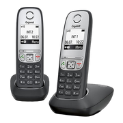 Gigaset A415 Duo DECT telephone Caller ID Black