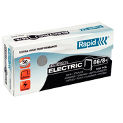 Rapid 66/8+, Staples pack, 8.5 mm, 5000 staples, 66/8+, Stainless steel, 50 sheets