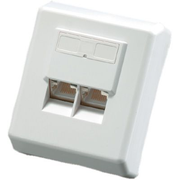 Value Cat.6 Surface Mount Wall Jack, shielded white
