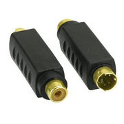 InLine 99401A cable gender changer S-video RCA Black