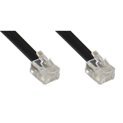 InLine 18848 telephone cable 1 m Black