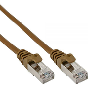 InLine SF/UTP Cat5e 3m networking cable Brown SF/UTP (S-FTP)