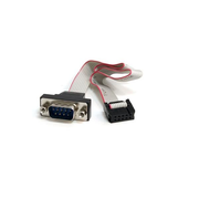 StarTech.com 16in 9 Pin Serial Male to 10 Pin Motherboard Header Panel Mount Cable