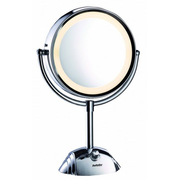 BaByliss 8438E makeup mirror Freestanding Round Stainless steel