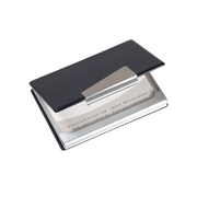 Sigel VZ131 business card holder Aluminium Black, Silver