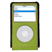 XtremeMac MicroGlove for iPod video - Black/Green