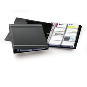 Durable VisiFix A4 business card file 20 pockets