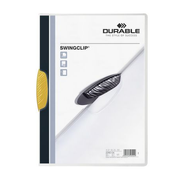 Durable Swingclip report cover Polypropylene (PP) Yellow