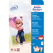 Avery Zweckform Glossy Photo Paper - 2554 A4 125GR printing paper A4 (210x297 mm) Gloss White
