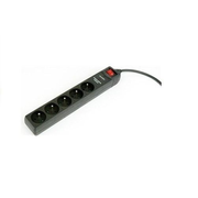 EnerGenie SPF5-C-5 surge protector Black 5 AC outlet(s) 250 V 1.5 m