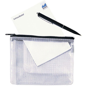 Rexel Mesh Bag With Black Zip A6