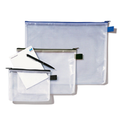 Rexel Mesh Bag With Black Zip A4