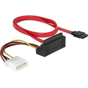 DeLOCK SATA All-in-One cable angled SATA cable 0.5 m Red