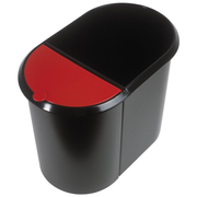 Helit H6103992 waste container Oval Plastic Black, Red