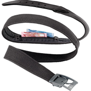 Design Go Belt Bank wallet Male Cotton, Leather, Metal Black