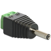 DeLOCK 65434 cable gender changer DC 1.3 x 3.5 mm 2p Black, Green, Silver