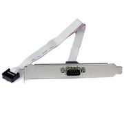 StarTech.com 16in (40cm) 9 Pin Serial Male to 10 Pin Motherboard Header Slot Plate