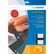 HERMA Fotophan transparent photo pockets 13x18 cm landscape black 10 pcs.